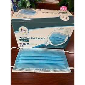 Khẩu trang y tế 4 lớp cao cấp giấy kháng khuẩn hộp 50 cái, hàng công ty Rực Sáng, tiêu chuẩn xuất khẩu