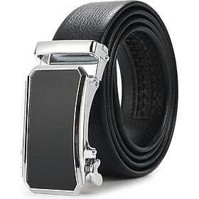 Thắt lưng da nam mặt thiết kế nam tính khóa tự động cao cấp - TOPEE TLO2