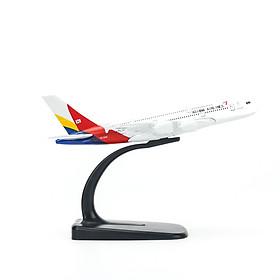Mô hình máy bay A380 Asiana Airlines (16cm) - Trắng, Đỏ, Vàng, Xanh dương đậm
