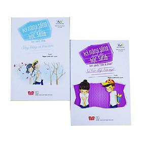 """Bộ 2 cuốn - Sách Kỹ năng sống dành cho học sinh: Học cách sống & Học cách """"cho và nhận"""""""