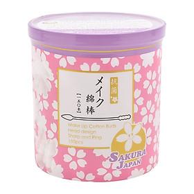 Tăm bông tẩy trang kháng khuẩn Nhật Bản TB07 (Lọ 150 chiếc)