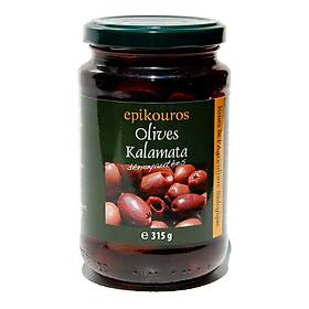 Qủa Oliu Kalamata hữu cơ tách hạt 315g - Epikouros