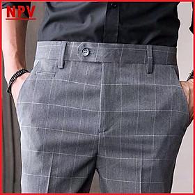 Quần âu nam NPV kẻ sọc chất vải cotton cao cấp , chuẩn thiết kế hàn quốc, cực tôn dáng, lịch sự, trẻ trung