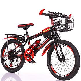 xe đạp thể thao 24 inh cho bé trai (9-15 tuổi) TẶNG KÈM GIỎ VÀ GÁCBAGA