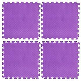 Bộ 4 tấm Thảm xốp lót sàn an toàn Thoại Tân Thành - màu tím (60x60cm)