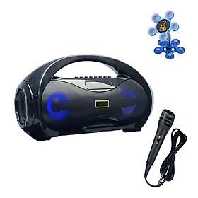 Loa Karaoke Bluetooth Xách Tay KM S2 Siêu Bass Kèm Mic Hát Tặng Giá Đỡ Điện Thoại Hình Hoa