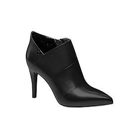 Giày Boot Nữ Cổ Thấp Gót Nhọn Rosata RO69 - Đen