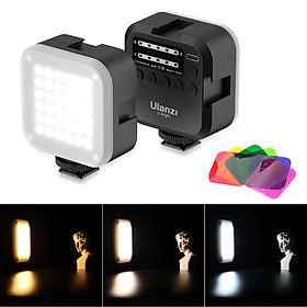 Ulanzi U-Bright Pocket Rechargeable LED Video Light Photography Fill Light Dimmable 2700K-6500K CRI95+ Triple Cold Shoe