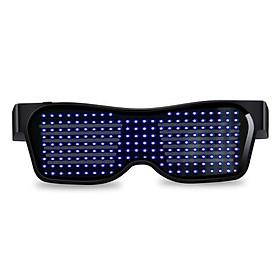 Fun App Control Bluetooth Customized Languages Flashing LED Party Glasses USB Charge Luminous Eyewear Christmas Concert Light Toy B4