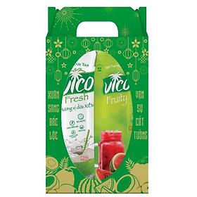Hộp quà tặng 2 hộp Nước dừa Vico Fresh 1L