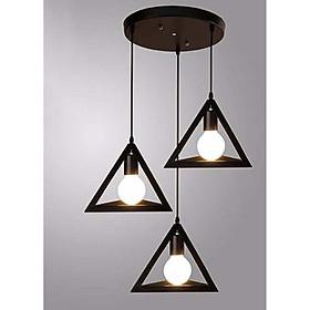 Đèn thả 3 tam giác đế tròn đã bao gồm bóng