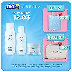Bộ Senka dưỡng ẩm chuyên sâu (Senka Deep Moist Lotion I, Moist Gel Cream, Moist Emulsion)