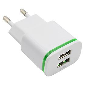 Bộ Sạc USB Đa Năng 2 Cổng Jack Cắm Cho iPhone / Android (5V / 2.1A)