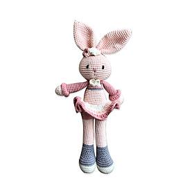 Thú bông bằng len Thỏ Sweetie hồng váy xòe - sản xuất thủ công handmade in Việt Nam - chất liệu 100% cotton, hàng chính hãng xuất khẩu, phù hợp mọi lứa tuổi
