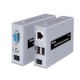 Bộ chuyển đổi vga sang lan 60M (điều khiển chuột USB) DTECH  DT-7044D - Hàng Chính Hãng