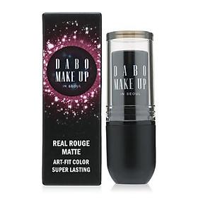 Son thỏi siêu lì chuẩn màu Dabo Make Up Real RouGe Matte Hàn Quốc No.101 (Magenta Pink) Tặng móc khoá-1