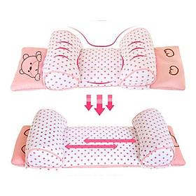 Gối chống bẹt đầu cho bé, chống lệch đầu cho trẻ sơ sinh từ 0- 3 tuổi. Thoáng mát thấm mồ hôi
