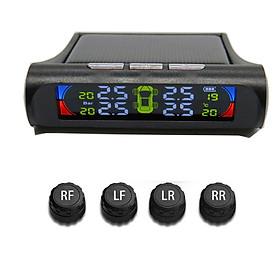 Cảm biến áp suất lốp xe ô tô TPMS thông minh màn hình LCD màu lắp van ngoài CBAP001