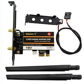 Card WIFI PC 3165 AC tích hợp Bluetooth 4.2 tốc độ 433Mbps cho máy bàn dùng chip Intel AC3165