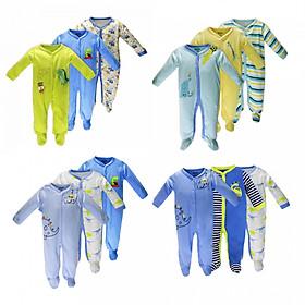 Set 3 áo liền quần có tất cho bé trai - Ngẫu nhiên 1 trong các mẫu như hình