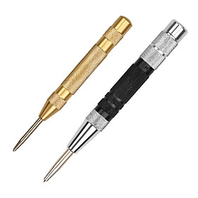 2Pcs Strong Automatic Centre Punch Adjustable Spring Loaded Metal Drill Tools