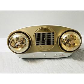 Đèn sưởi nhà tắm 2 Bóng + 1 Quạt gió nóng - MST02 - Hàng chính hãng
