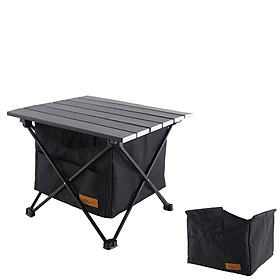 Outdoor Folding Table Storage Basket Picnic Table Storage Hanging Bag Invisible Pocket Waterproof Camping Barbecue Table