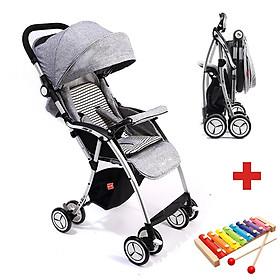 Xe đẩy cho bé, Xe đẩy trẻ em cao cấp gấp gọn siêu nhẹ Baby Only F2 – TẶNG KÈM ĐÀN XYLOPHONE 8 THANH CHO BÉ