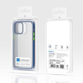 Ốp lưng trong suốt iPhone 12/ 12 Pro/ 12 pro Max Rock Guard Pro viền màu - Hàng chính hãng