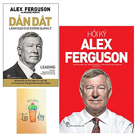 Combo Hồi Ký Alex Ferguson và Dẫn Dắt - Lãnh Đạo Chứ Không Quản Lý( Tặng Kèm Sổ TAy Xương Rồng)