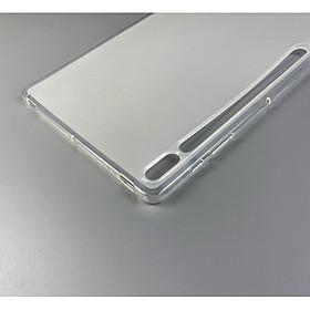 Ốp silicon cho Tab S7 Plus T970 - Silicon dẻo nhám chống bám vân tay