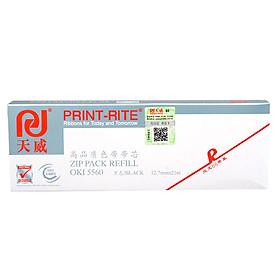 PrintRite OKI 5560 black ribbon for OKI 5560/6500/5760 ribbon holder with core