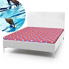 Drap giường Chống Thấm hình họa tiết hoa văn vui nhộn 1m8x2m - Giao màu ngẫu nhiên