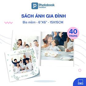 """Voucher dịch vụ in sách ảnh bìa mềm 40 trang 6"""" x 6"""" (15 x 15cm) - Tự thiết kế trên website Photobook"""