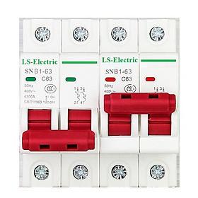 Bộ đổi nguồn điện 2P 63A 220V SNB1-63 LS-Electric dùng để chuyển đổi 2 nguồn điện cầu dao đảo chiều khóa liên động