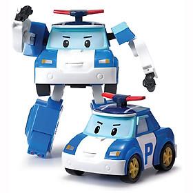 Đồ chơi mô hình biến hình biệt đội xe robocar Poli 2 trong 1 cho bé xếp hình xe và robot