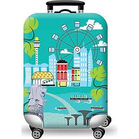 Túi bọc bảo vệ vali -Áo vỏ bọc vali - Du Lịch Singapore