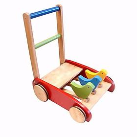 đồ chơi vận động cho bé  - xe tập đi bằng gỗ hình con gà ( giao màu ngẫu nhiên)