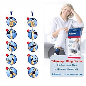 Băng quấn hỗ trợ và bảo vệ khớp cổ chân, mắt cá chân cao cấp Actimove TaloWrap-4