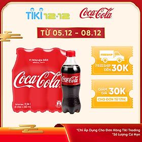 Lốc 6 Chai Nước Giải Khát Có Gas Coca-Cola (390ml / Chai)