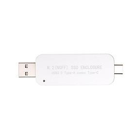Chuyển Đổi USB 3.0 Sang M.2 NGFF SSD Qua Cổng Type-A Type-C Hỗ Trợ 2230/242 Tốc Độ Cao (5Gbps)