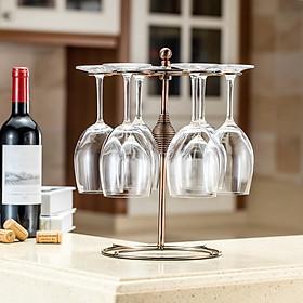 Giá Để Ly Rượu Kiểu Cổ Điển (6 Móc)