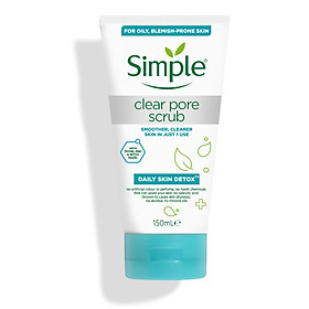 Tẩy da chết Simple Daily Skin Detox Clear Pore Scrub 150ml