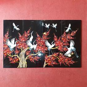 Bộ tranh sơn mài Mai Lan Cúc Trúc D004