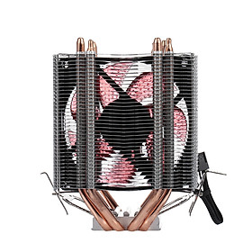 Quạt Tản Nhiệt CPU Heatsink 4 Heatpipe 2 Hỗ Trợ 775 / 115x / AMD LED