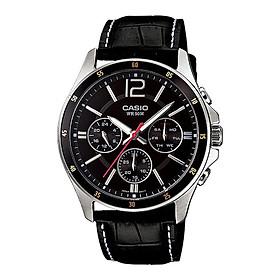 Đồng hồ nam dây da Casio Standard chính hãng MTP-1374L-1AVDF (43mm)