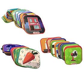 Hình đại diện sản phẩm Combo 120 thẻ Ekidar 2,3,4 Hoa quả, Công trình, Đồ dùng