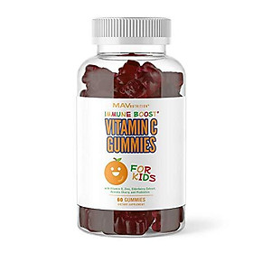 MAV Nutrition Vitamin C for Kids Immune Support Gummies with Zinc, Elderberry, Echinacea Designed for Ultimate Health & Wellness, Non-GMO, Natural Flavoring; 60 Gummies