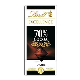 Kẹo sô cô la 70% ca cao Lindt Excellence 100g
