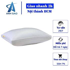 1 Gối Lông vũ Microfiber Cao cấp A - Đạt Chứng nhận OEKO-TEK an toàn sức khỏe, không chứa chất độc hại - Gối nằm êm ái, mềm mịn, kháng khuẩn - Gối chuẩn khách sạn 5 sao